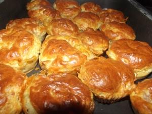 Cakes chèvre/poulet rôti
